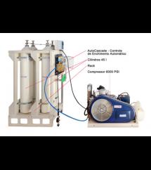 Sistema para Fornecimento de Ar Respirável Cascata